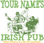 Custom Personalized Irish Pub Tees and Gifts