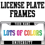 Last Name University License Plate Frames