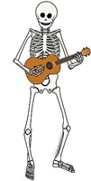 Ukulele Playing Skeleton