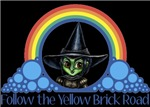 With all the colors of the rainbow, this Wonderful Wizard of Oz inspired design capturesWicked Witch of the West Follow the Yellow Brick Road.  The perfect gift for any Oz fan.