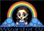 With all the colors of the rainbow, this Wonderful Wizard of Oz inspired design captures Dorothy Wizard of Oz.  The perfect gift for any Oz fan.