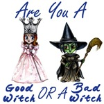 When Glinda the Good Witch first meets Dorothy of Oz in the Wonderful Wizard of Oz, she asks Dorothy if she is a good witch or a bad witch.  This Tshirt Design featuring Glinda and the Wicked Witch of the West brings to life that famous quote.