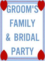 GROOM'S FAMILY & ATTENDANTS