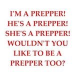 prepper joke om gifts and t-shirts.