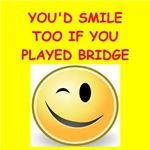 a funny bridge joke on gifts and t-shirts.