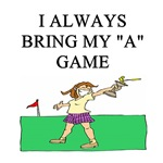i love golf player gifts t-shirts