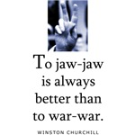 To jaw-jaw