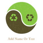 Personalized Recycle Yin Yang Tees