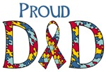 Proud Dad Autism T-shirts