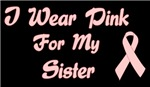 Breast Cancer Support Sister T-shirt