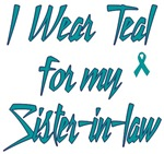 Ovarian Cancer Support Sister-in-law Shirts