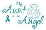 Ovarian Cancer Angel Aunt T-shirts