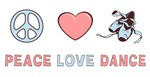 Peace Love Dance T-shirts