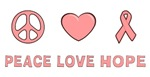 Breast Cancer Peace Love Hope T-shirts