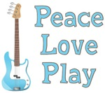 Peace Love Play Guitar T-shirts ~ Peace love play guitar t-shirts and gifts for guitarists who want to promote peace, love and music.