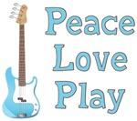 Peace Love Play Guitar T-shirts