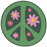 Flower Power Peace T-shirt ~ Flower power peace t-shirts and retro peace merchandise.