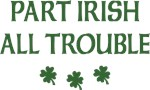 Part Irish All Trouble T Shirt