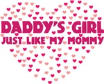 Daddy's Girl Just Like My Mommy Baby Shirt