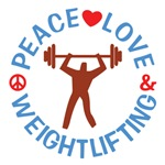 Peace Love Weightlifting T Shirts