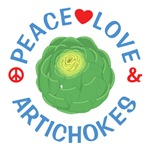 Peace Love Artichokes Shirts