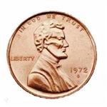 1972 U.S. Penny