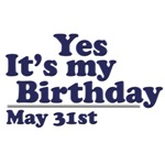 May 31st Birthday T-Shirts & Gifts