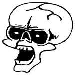 Screaming Halloween Skull T-Shirts & Gifts
