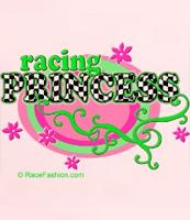 Racing Princess designs on t-shirts