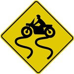 Motorcycle Road Sign