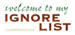 Ignore List