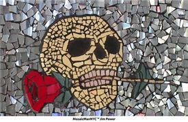 MosaicManNYC Skull & Rose