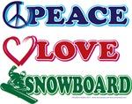 Peace Love Snowboarding