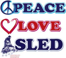 Peace Love Sled