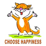 CHOOSE HAPPINESS CAT