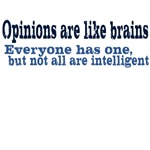 Opinions are like brains