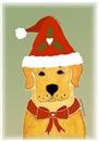 Labrador Retriever Santa Dog