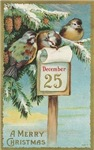 Vintage Christmas Sparrows