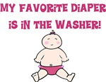 My favorite diaper is in the washer! Girl