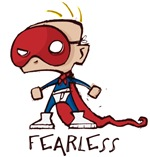 Fearless is a child inspired by Comic Books ready to take on the world.  Show the world your inner child with this comic book geek t-shirt or gift.
