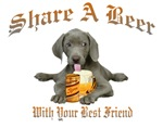  Weimaraner Share A Beer With Your Best Fri