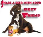 Pointer Shares A Beer