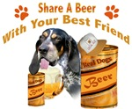 Blue Tick Bloodhound Shares A Beer