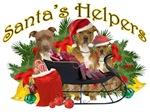 Pitbull Santa's Helpers