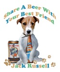 Jack Russell Shares A Beer