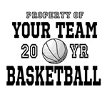 Personalized Property of Your Text Basketball