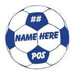 Soccer Ball Personalized Blue
