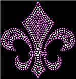 Fleur-de-lis Mosaic Pink