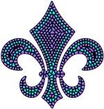 Fleur-de-lis Mosaic Purblue