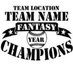 Fantasy Baseball Personalized Championship BLK